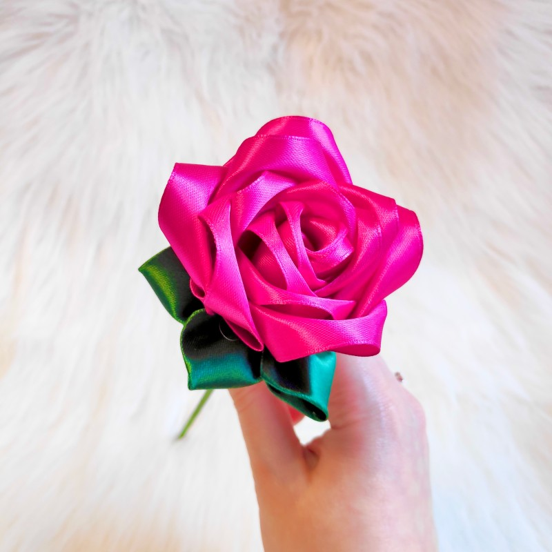 Magenta Satin Rose