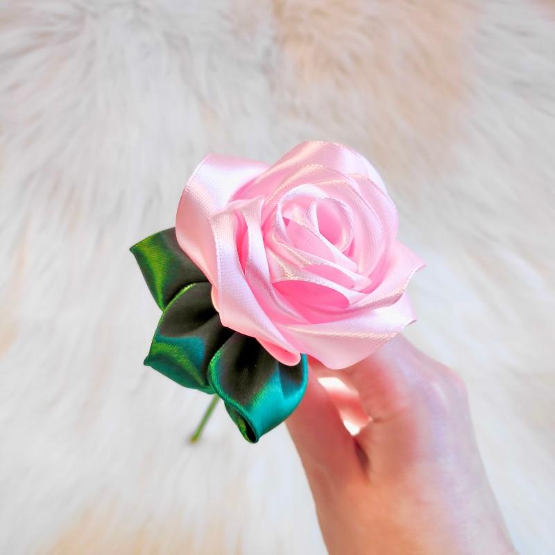 Pastel Pink Satin Rose