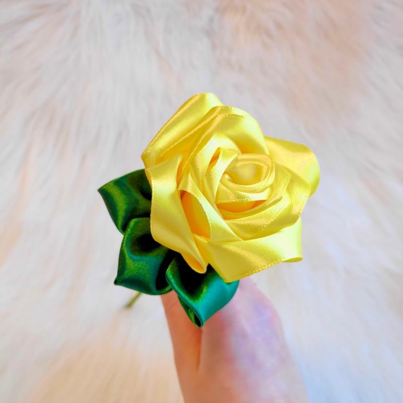 Yellow Satin Rose