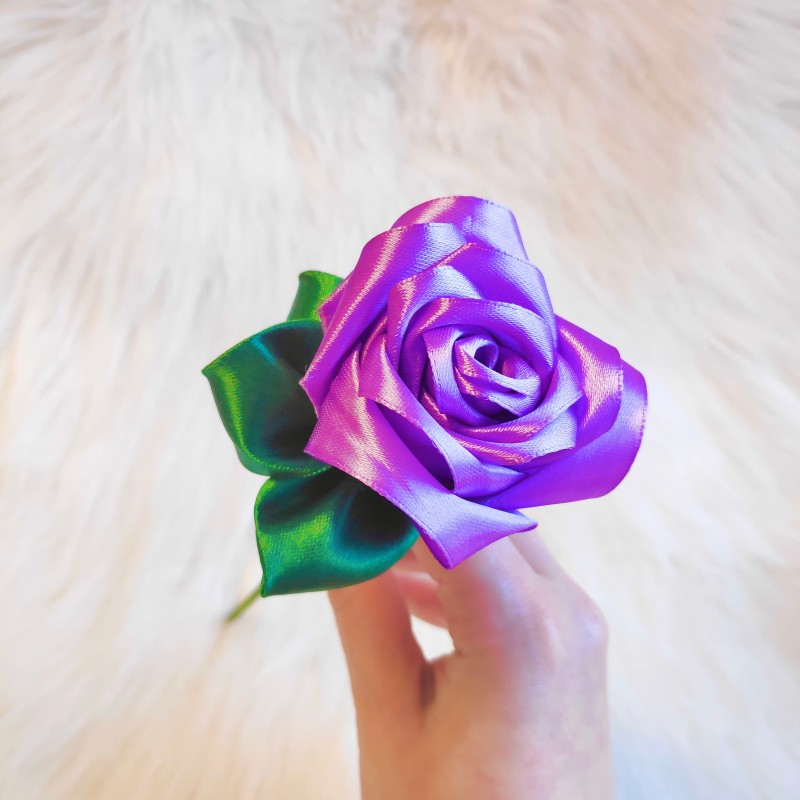Pastel Purple Satin Rose