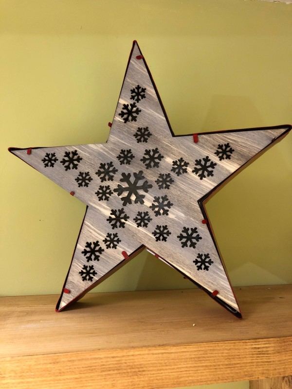 Led star with cutout