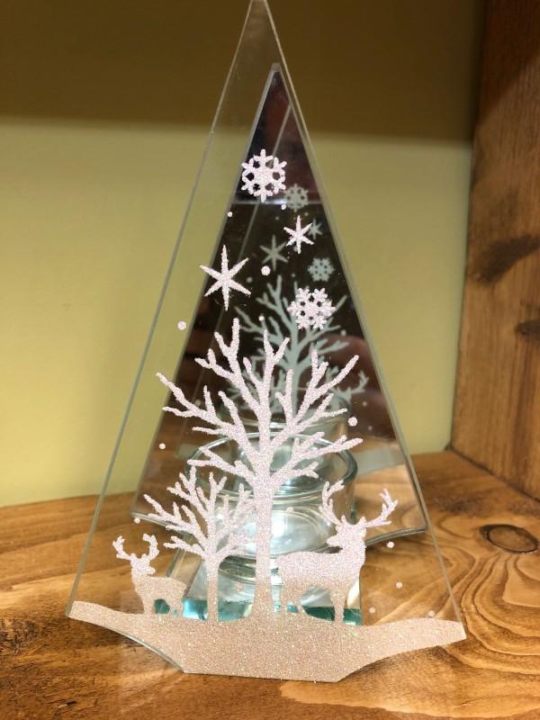 Crystal tea light deer holder