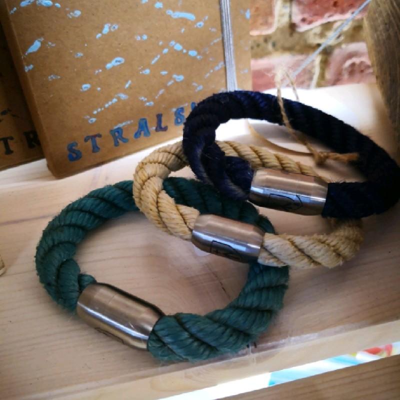 Fischereidesign - Armband mit Edelstahlverschluss und Gravur