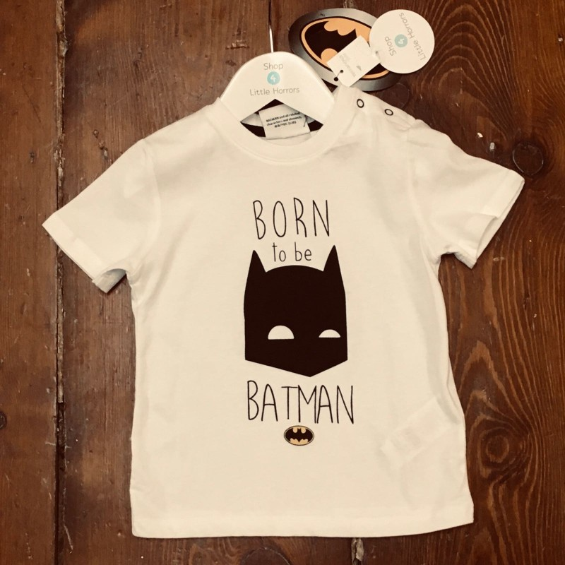 TERRANOVA WHITE BATMAN T-SHIRT BNWT 12-18M