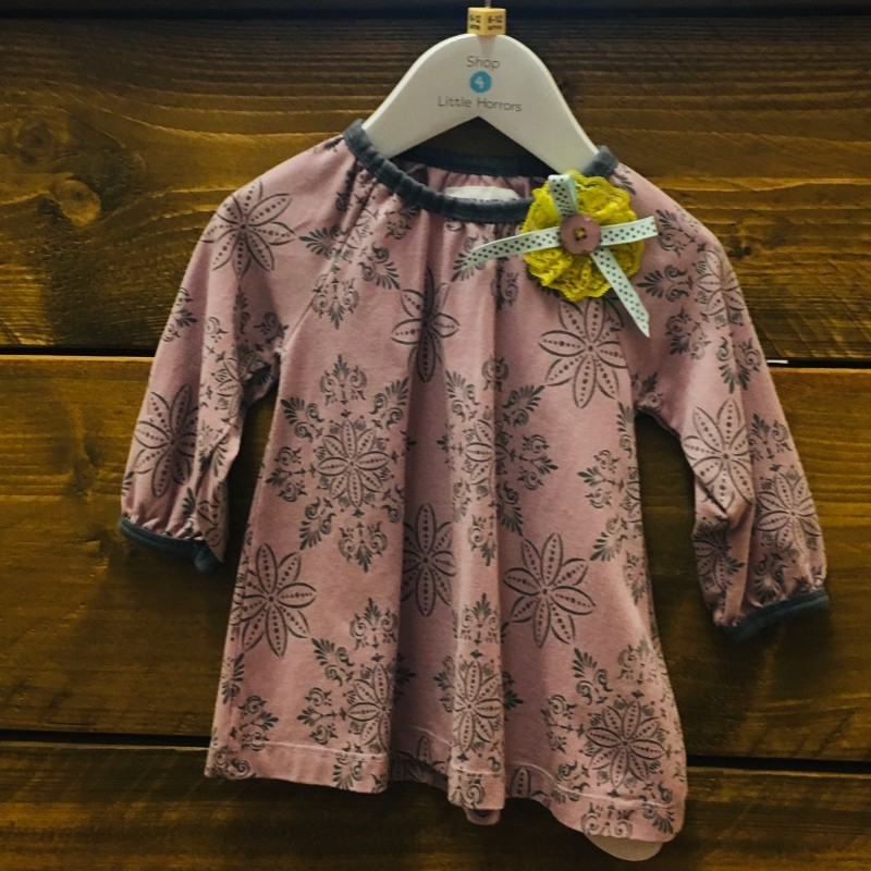 PHISTA & PHILINA DRESS PINK/GREY 6M