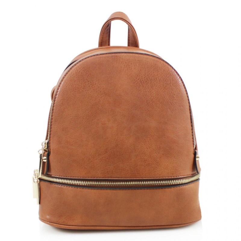 Multi Section Backpack - Tan