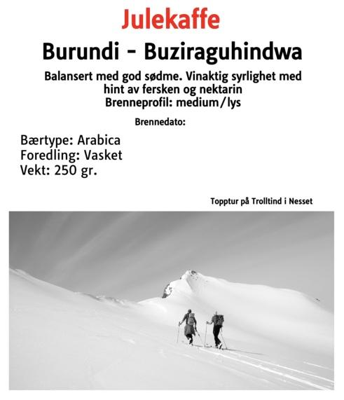 Julekaffe - Burundi