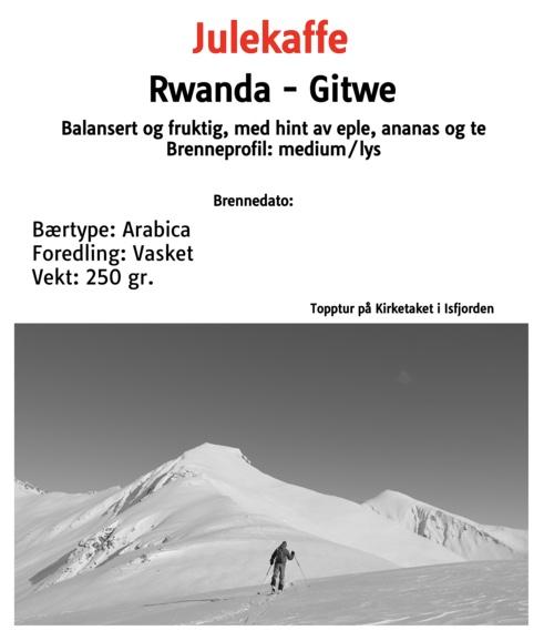 Julekaffe - Rwanda lysbrent