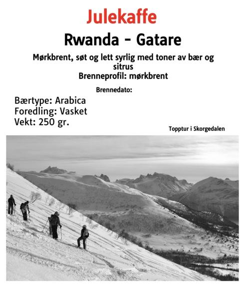Julekaffe - Rwanda mørkbrent