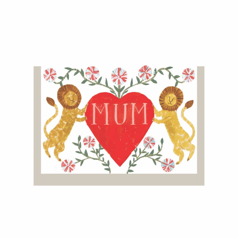 Mothers's Day Lion Heart card by Hadley Paper Goods