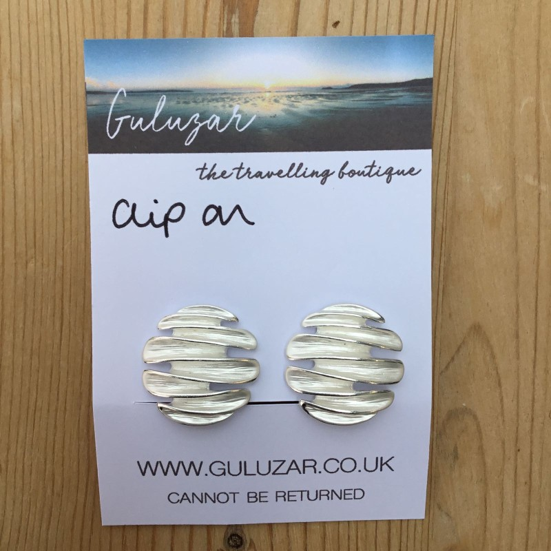 Clip On Concertina Earrings