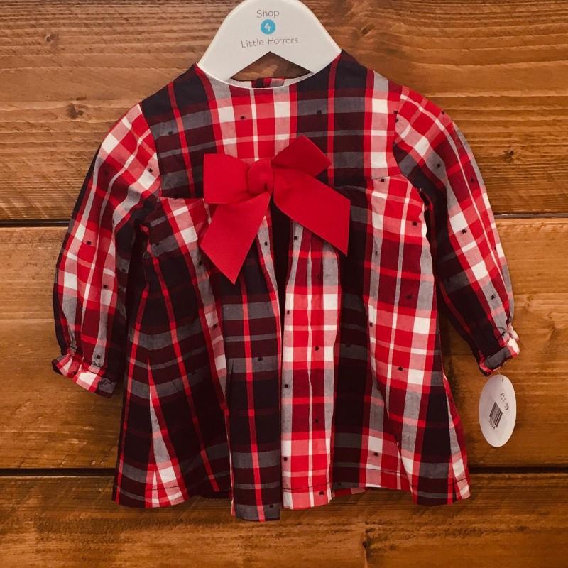 TUTTO PICCOLO RED CHECK DRESS 9M