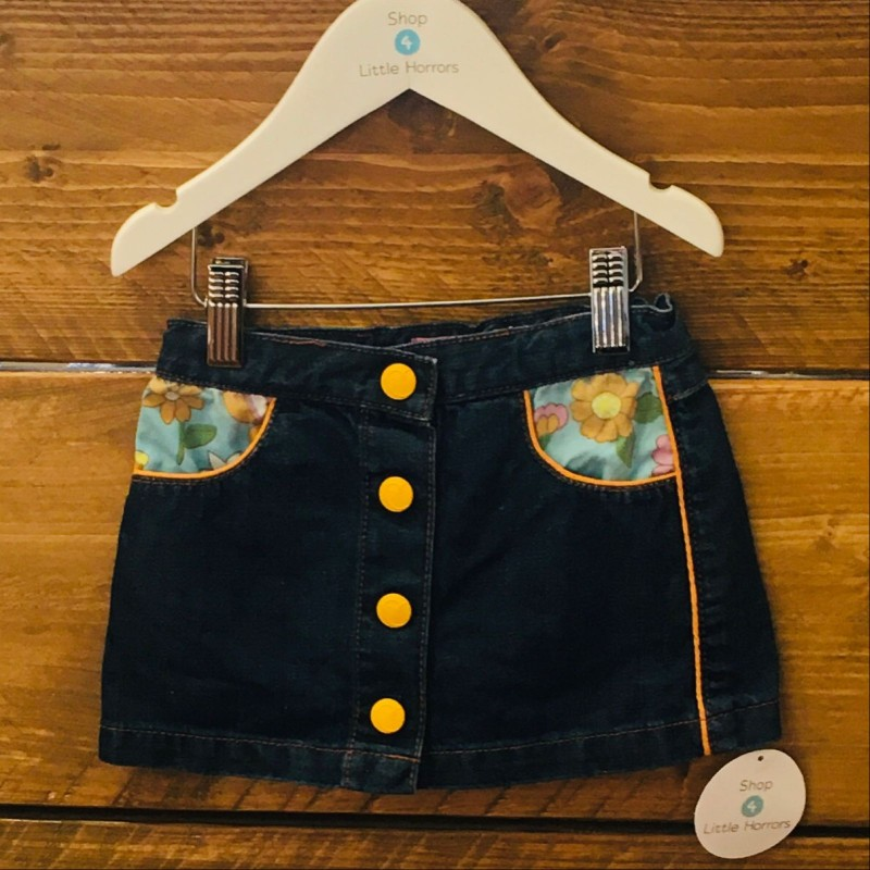 LITTLE BIRD FRONT FASTENING DENIM SKIRT 18-24M