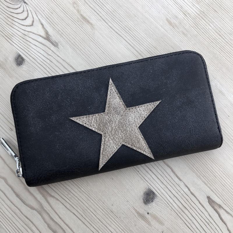 Star Purse (Large) - Tan/Black
