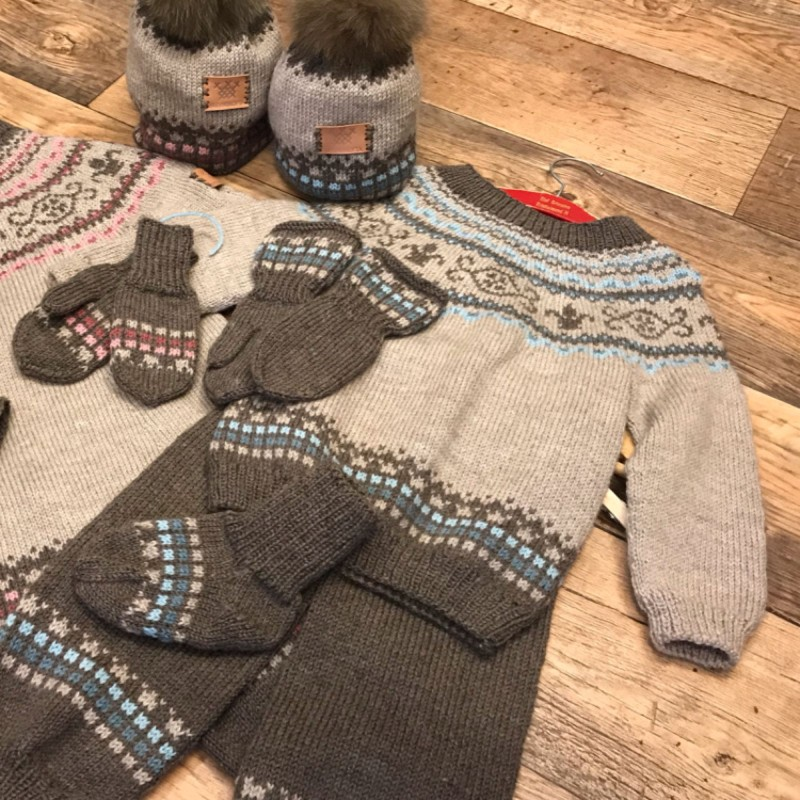 Brevikskofta : barnesett genser