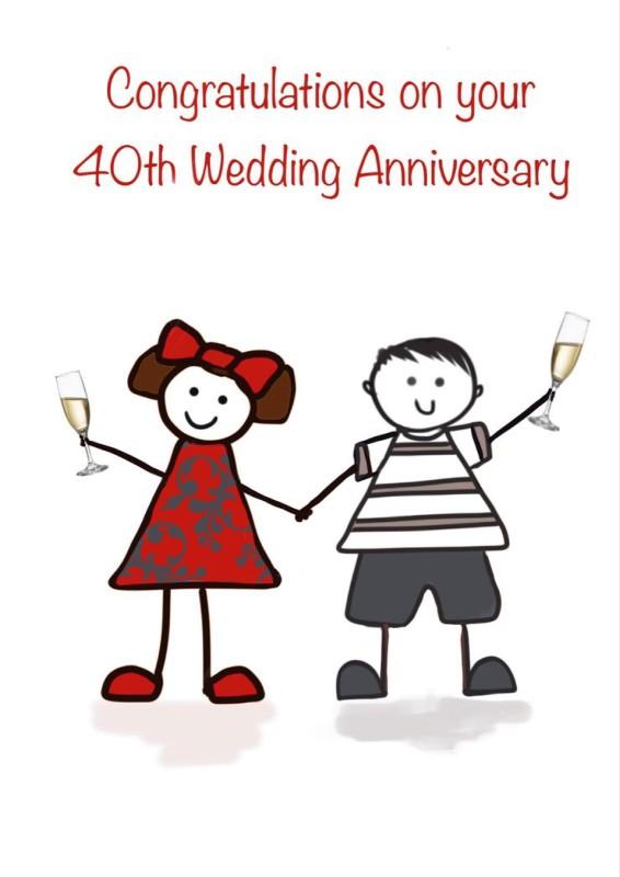 40th Wedding Anniversary (FDE32)
