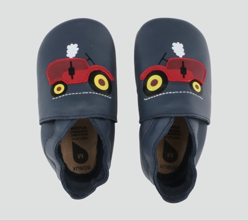 Bobux Soft Sole, Navy Tractor