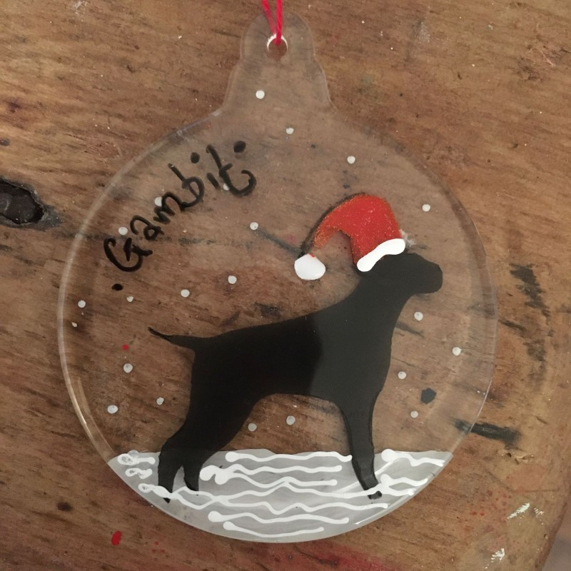 Pointer bauble - personalised with name