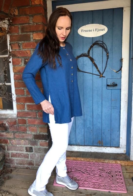 K&Us - Astrid linskjorte/jakke farge ocean