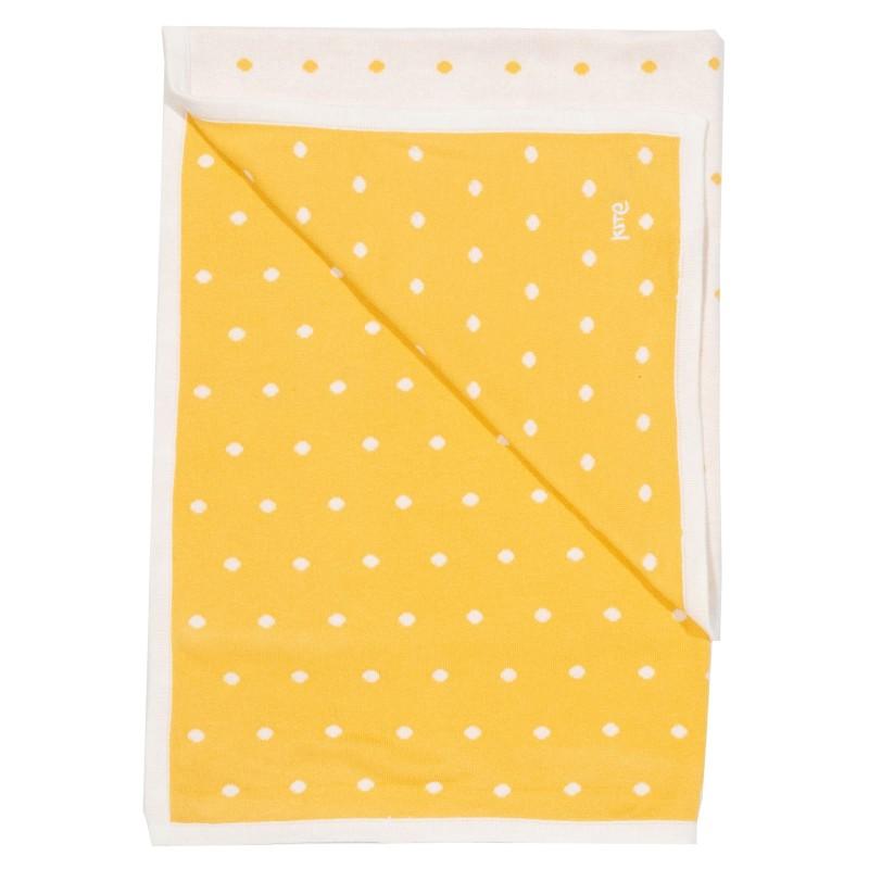 Kite Polka Dot Knit Blanket, Yellow