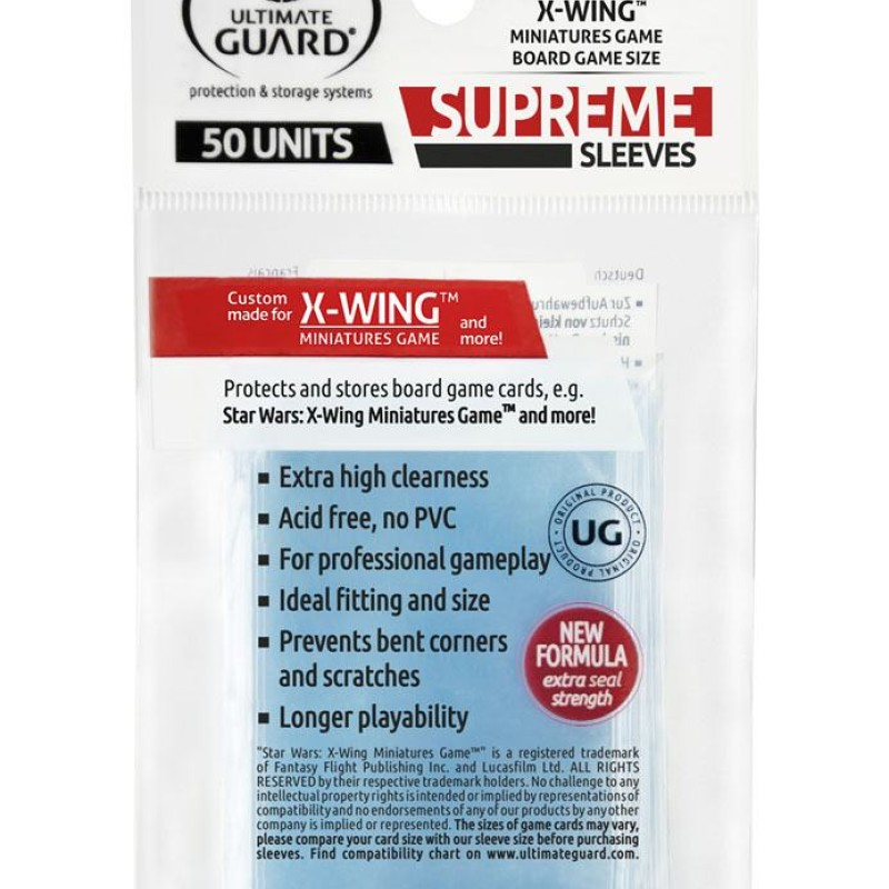 Ultimate Guard Supreme Sleeves for Board Game Cards X-Wing™ Miniatures Game (50)
