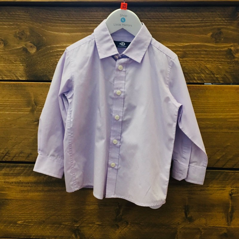 DUCK & DODGE LILAC LONG SLEEVED SHIRT 3-4YR