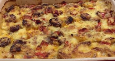 WFT 05 Saturday Potato, Cheese and Chorizo bake