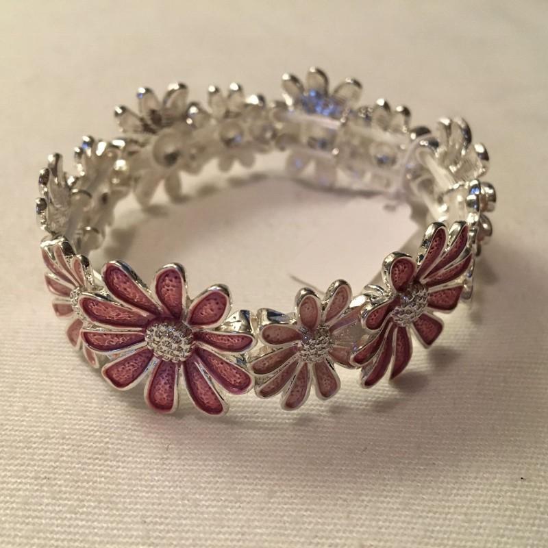 Daisy Bracelet - Pink