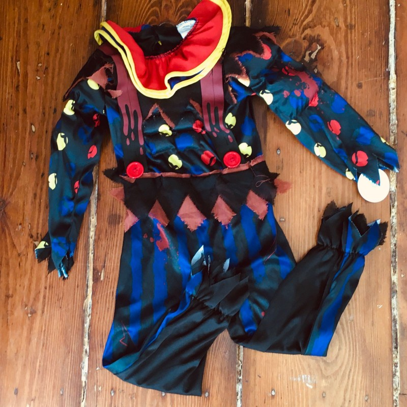 CLOWN DRESSING UP OUTFIT 5-7YRS