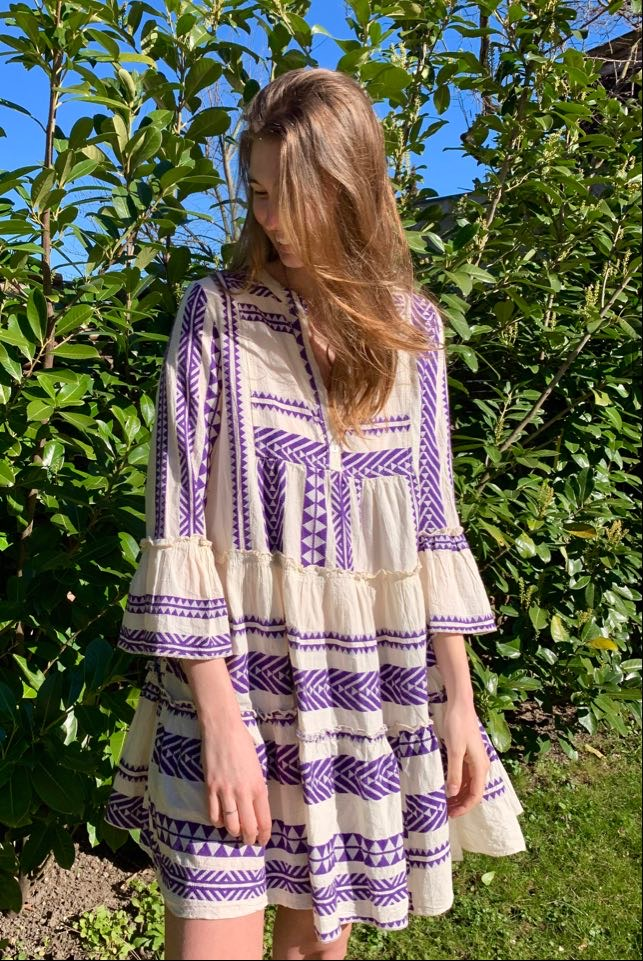 Stjal - mønstret kjole