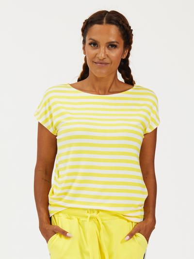 Comfy Copenhagen - T-shirt yellow stripe