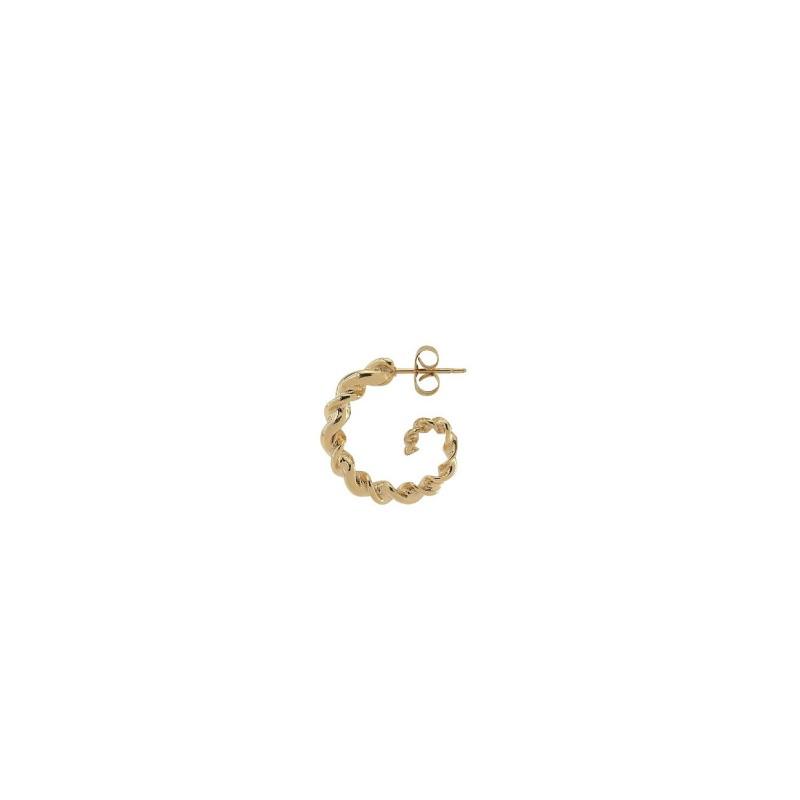 Plissé Copenhagen - Twisted Earring Gold