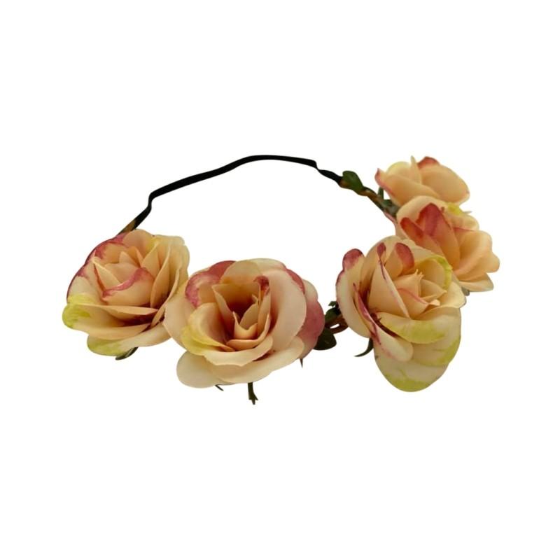 Justdlux-hårbånd m roser
