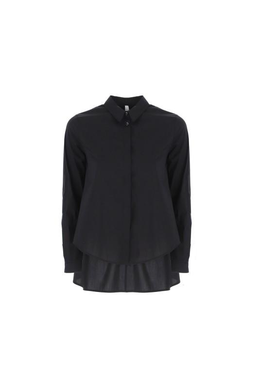 Imperial - solid colour droptail blouse