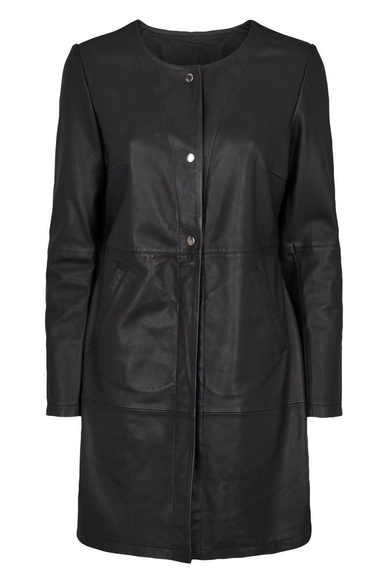 Tina Wodstrup - Coat Black lamb leather