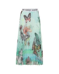 Hunkøn-Butterfly Chiffon Skirt