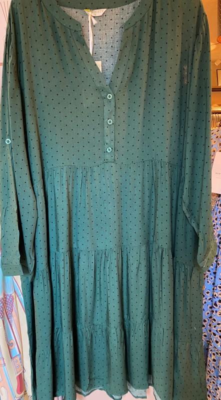 Cat & Co - Grøn prikket kjole