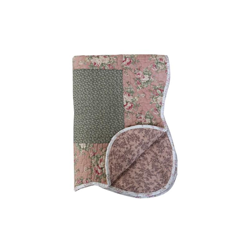 Chic antiqe-Quilt m. blomsterprint