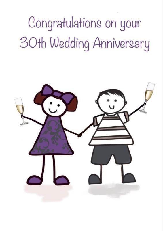 30th Wedding Anniversary (FDE31)