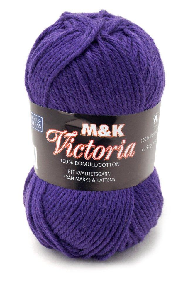 Marks & Kattens Victoria bomullsgarn 50g - Mörklila