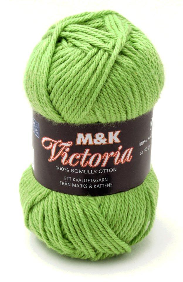Marks & kattens Victoria bomullsgarn 50g - Äppelgrön