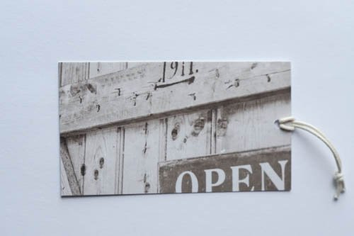 Gift tag - Open