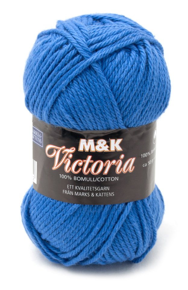 Marks & Kattens Victoria bomullsgarn 50g - Blå