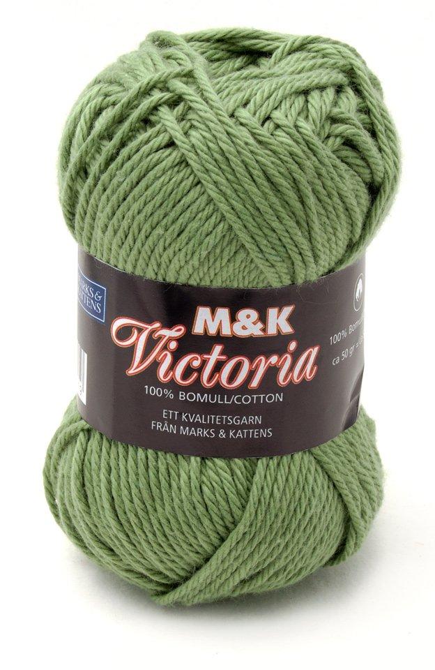 Marks & Kattens Victoria bomullsgarn 50g - Mellangrön