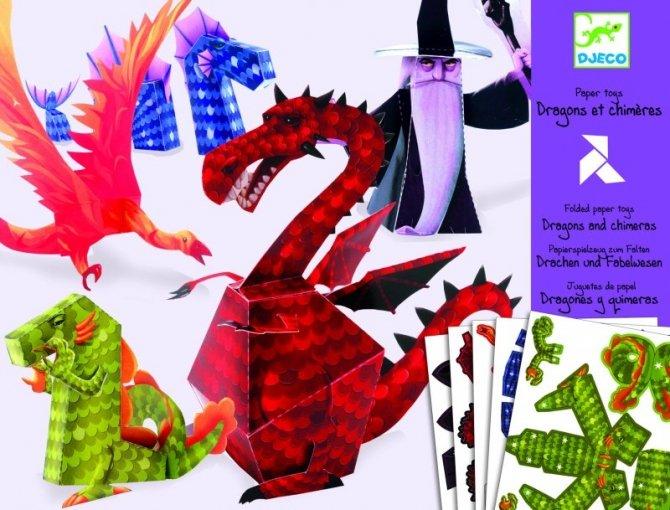 Kirigami - Drakar och trollkarl