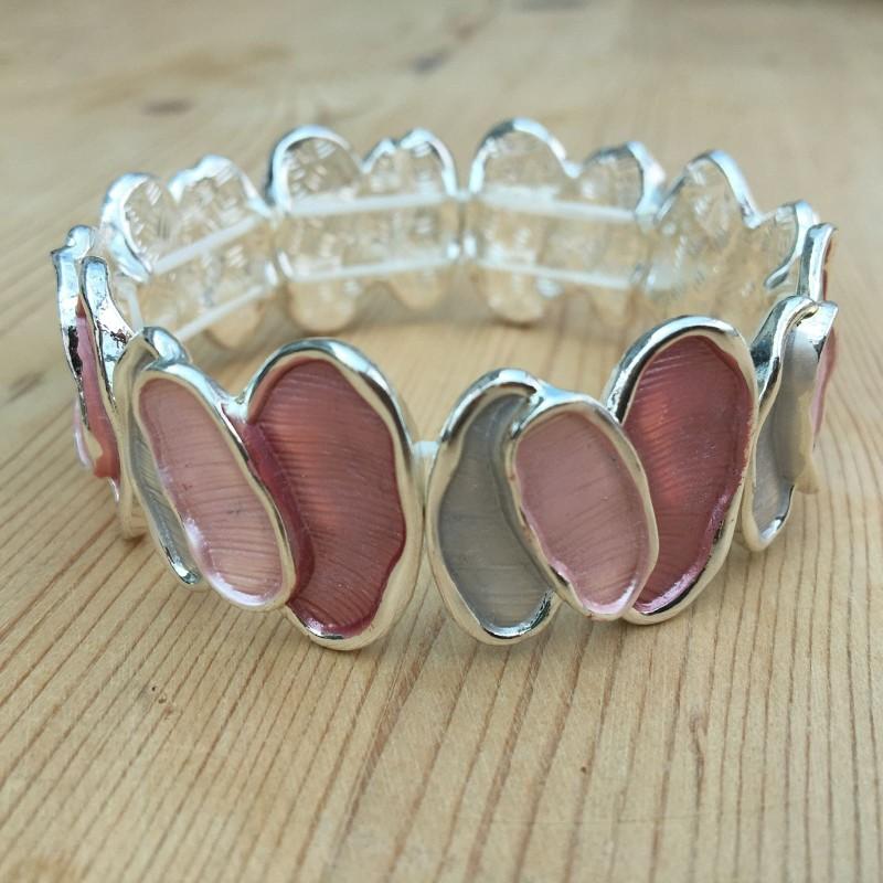 Oval Bracelet - Pink
