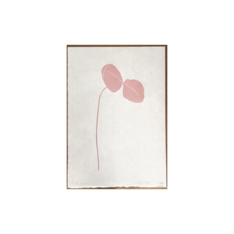 Kathy Hutton Pea Shoot Minimalist Botanical Lino Print