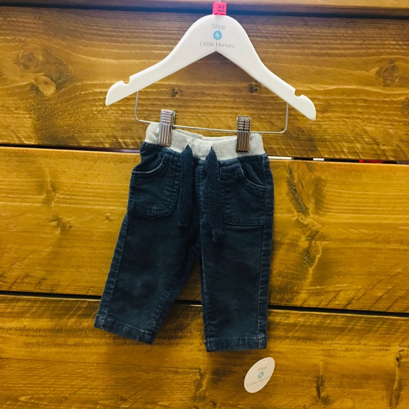 BABALUNO TROUSERS BLUE/NAVY CORD 0-3M