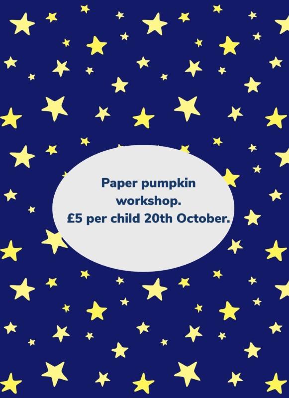 Paper pumpkin workshop