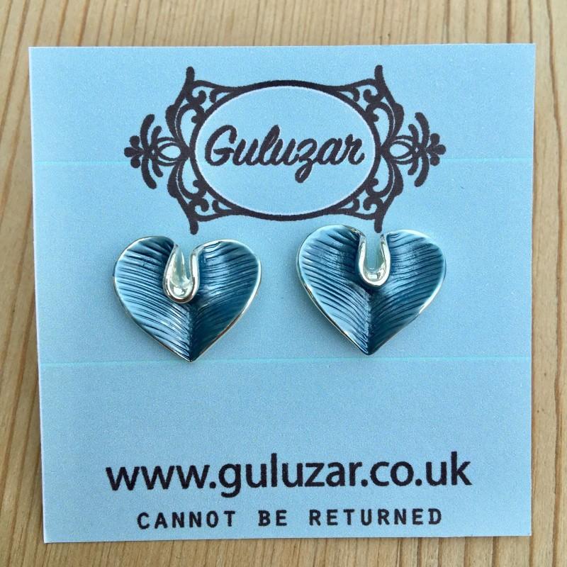 Lily Heart Earrings - Blue Multicolour
